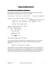 Solutions to Worksheet Section 5