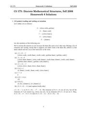 Homework 4 Solution on Discrete Structures