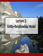 Lecture 2 - Entity-Relationship Model (Fall 2016).pptx