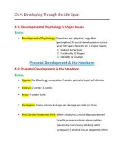 Ch.4- Developing Through the Life Span .docx