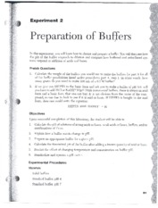 Preparation of buffers lab report