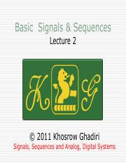 Signals, Sequences and Analog, Digital Systems Lecture 2 basic signal and sequences.pdf