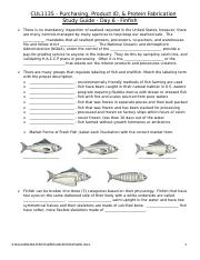 CUL1135 - Study Guide - Day 6 - Finfish, Crustaceans & Mollusks(2)