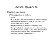 Lecture 4 on Vibrations