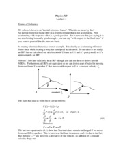 Physics 325 Lecture 4