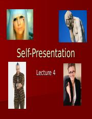 Lecture 4 - Self Presentation.ppt