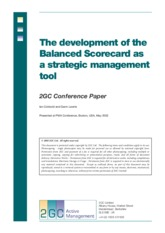 The development of the Balance score card as strategic management tool