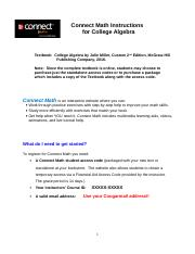 College Algebra Connect Math Instructions Fall 2016.doc