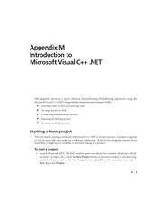 Appendix M - Introduction to Microsoft Visual C++ .NEt