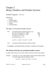 Class notes-Binary