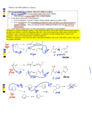 Test 4 Dienes HBr addition and Alkenes NBS bromination Answers
