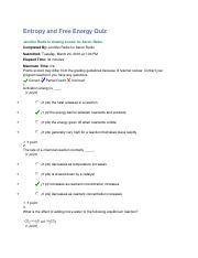 10.10 Entropy and Free Energy Quiz.docx