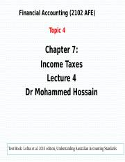 Topic 4 L04 ch 7 March 26