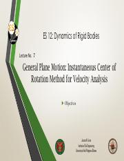 Lecture 7 General Plane Motion IC Method for Velocity Analysis.pdf