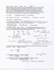 Exam B Fall 2009 Solutions on General Chemistry
