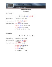 Calculost Mathematical Induction Methods