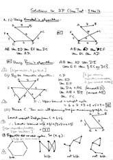 Answers to 2014 Mathematics 2P In-course Examination (Solutions)