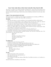 rock music exam 1 study guide Music to help study and work - concentration music, focus music use this music for exams or as a study aid or study guide call this concentration.