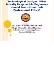 Professional Ethics 2015 (Lecture-2)