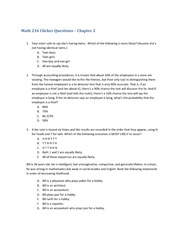 Math 216_Quiz Solutions 2 on Probability and Statistics for the Engineering Sciences