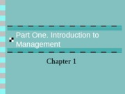 Part One. Introduction to Management