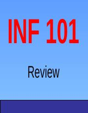 INF 101 FINAL Review