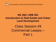 RE 358 URB 351 Powerpoint 0212
