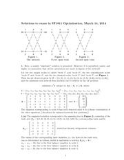 Final Exam Solution Spring 2014 on Optimization
