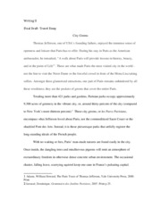 Travel Essay Final Draft Writing 102
