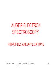 AUGER_ELECTRON_SPECTROSCOPY_FOR_17TH