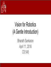 CS545_Lecture_21 An Overview of Vision for Robotics