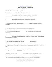 conjunctions-exercises-gh