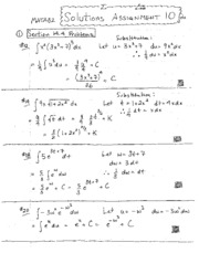 Assignment 10 Solutions