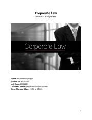 Yash_Abhiraj_Singh_4584380_Corporate Law_Research Assignment.docx