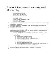 Ancient Lecture - Leagues and Monarchies.docx