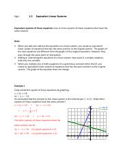 Pg41 1-5 Equivalent Linear Systems