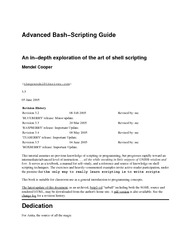 Advance Bash-Scripting guide