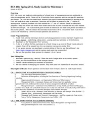 BUS 160 Summer I 2015 Study Guide, Mid-term 1