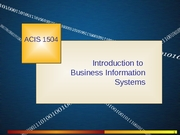 821 Introduction to MIS
