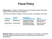 Lecture 16 Fiscal Policy