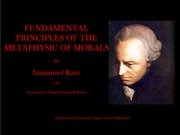 Kant--Groundwork for the Metaphysic of Morals