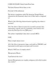 CAMS 010 FINAL EXAM Study Guide Penn State