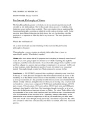 PHILOSOPHY 201 WINTER 2013 Study Notes 1