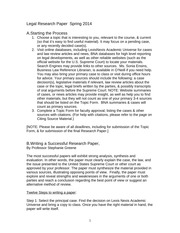 Law I Writing the Research Paper Spring 2014