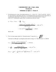 328 Quiz 1 Versoin 1 solutions