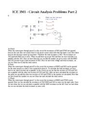 Circuit Analysis Problems Part 2
