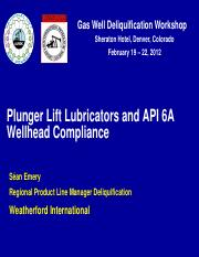 4 - 4 --- Presentation --- Weatherford --- Plunger Lift Lubricators