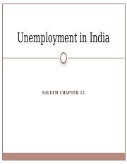 09- Unemployment in India