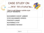 CASE STUDY ON ZEE-TV KJ