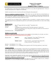 ACCT3004_Module E-Tests-Information Sheet_Semester 2_2015(1)